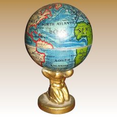 Antique German miniature Globe Man base pencil sharpener