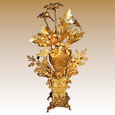Antique Ormolu Floral decorative miniature centerpiece