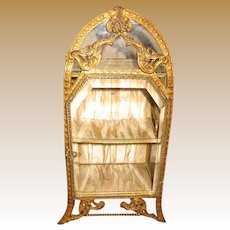 Beautiful medium size Ormolu Decorative Antique French miniature Vitrine