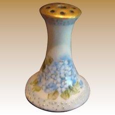 Antique doll miniature porcelain hand painted Blue Floral Hat Pin Holder