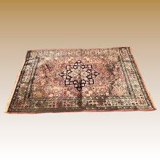 Doll vignette Antique Miniature silk Persian Carpet