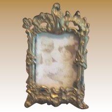 Antique Miniature Doll House gilt metal Picture decorative frame