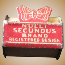 Antique miniature store Nulli Secundus Adhesive tape Butterfly tin