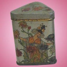 Antique miniature doll house kitchen shop Asian tea tin Choice
