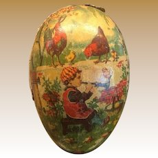 Antique Lithographed Easter Egg German Candy Container Ornament