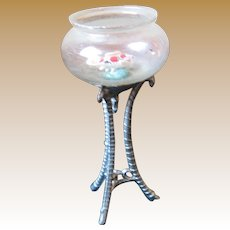 Antique Doll House Miniature Fish Bowl