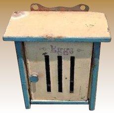 Antique German tin kitchen miniature egg holder