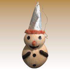 Antique Christmas cotton Snowman large ornament