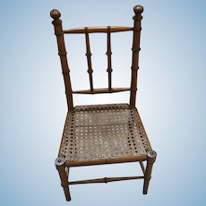 Antique French Faux Bamboo doll Chair Large scale Choice