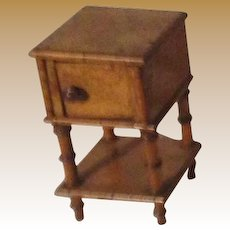 Antique French Faux Bamboo doll end Table nightstand Large scale