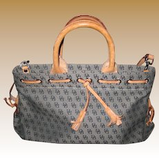 Vintage Dooney Burke Signature Logo cloth bag purse