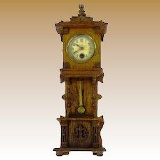 Antique German miniature Grandfather Clock