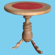 Antique Doll round wood French turned Pedestal table