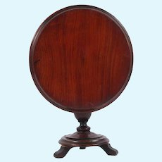 Antique 19th c Doll Size Salesman Sample English mahogany tilt top Pedestal Table