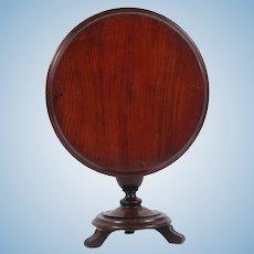Antique 19th c Doll Size Salesman Sample English mahogany tilt top Pedestal Table