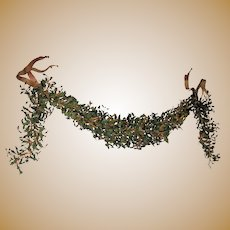 Antique Italian Iron large swag Garland c1915