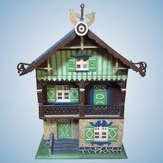 Primitive FOLK ART Antique German DOLL HOUSE