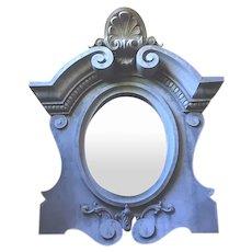 Antique French large Zinc Bullseye decorative Mirror