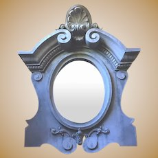 Antique French large Zinc Bullseye decorative Mirror