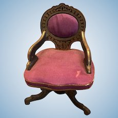 Biedermeier Antique miniature doll house desk Chair