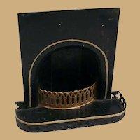 Antique German MARKLIN DOLLS House  tin Fireplace