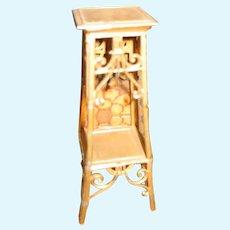 German antique miniature gilt painted pewter decorative Plant Stand