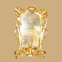 Antique doll house miniature Ormolu Art Nouveau Mirror