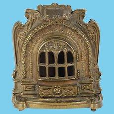 Cast iron antique miniature decorative Fashion doll fireplace