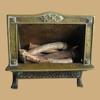 Antique doll decorative miniature COSMOS FIREPLACE
