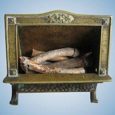 Antique doll decorative miniature COSMOS FIREPLACE
