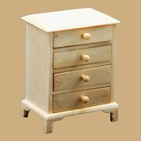 Antique Doll house Bone Miniature Chest of Drawers