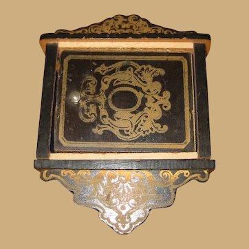 Antique Biedermeier Boule doll house miniature Key box