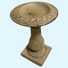 Antique miniature metal decorative Bird Bath