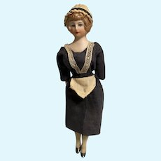 Antique all Bisque doll house Maid