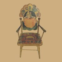 Antique Bliss paper litho ABC wood doll chair