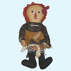 "Artist Raggedy Ann & Andy pair of dolls 33"""