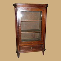 Antique Doll Cherry Display Cabinet Bookcase