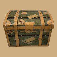 Antique Fashion Dome Trunk candy container large travel size