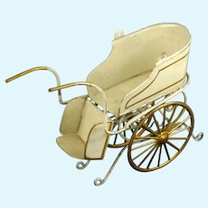 Antique Märklin Two wheeled miniature Doll Carriage