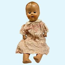 """Vintage Baby compo doll cloth body 24"""""""