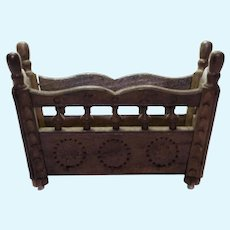 Antique doll Brittany Wood Rocking Cradle