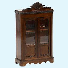 Antique doll Rococo Style Miniature Display Cabinet