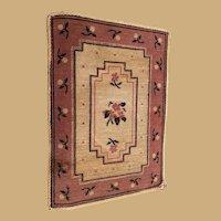 Doll House or Vignette Antique Miniature Blue Pink Carpet rug Choice