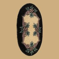 Doll house Antique Miniature Carpet oval Rug