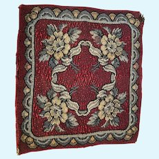 Antique dark red floral miniature rug Carpet