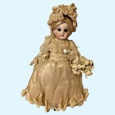 Antique French Mignonette doll Bridal Bridesmaid
