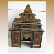 Antique doll house miniature Buffet Boule Biedermeier furniture gilt design small scale