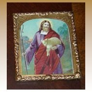 Antique miniature religious Jesus picture On the River Choice