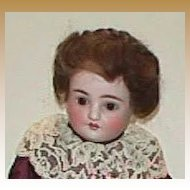 Kestner turned shoulder head antique bisque doll 19""