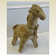 Antique toy plush animal Giraffe